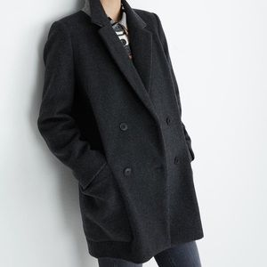 NWT madewell Hollis coat blazer charcoal